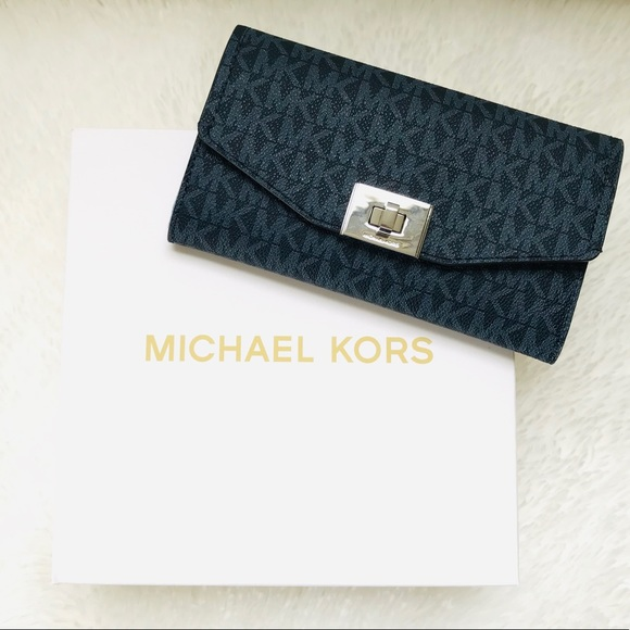 91207c31e704 Michael Kors Admiral Blue Trifold Wallet